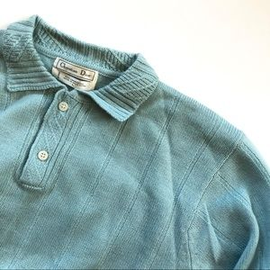 Christian Dior Lambswool Blue Sweater - large